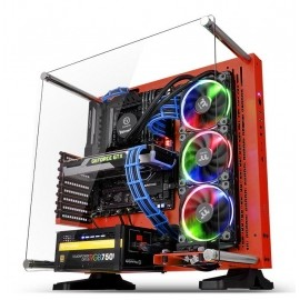 Gabinete Thermaltake Core P3 SE Red Edition con Ventana LED RGB, Midi-Tower, ATX - Envío Gratuito